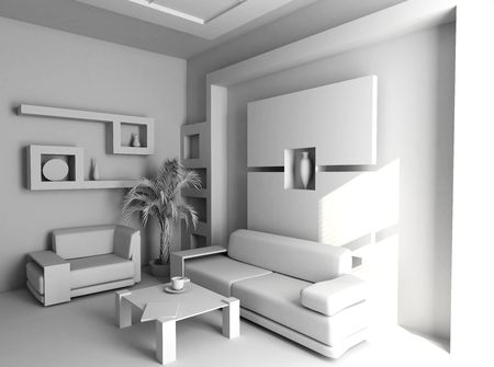 rest room: office the rest room blank interior(3d)