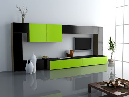 privat: design of the modern living interior of privat apartment