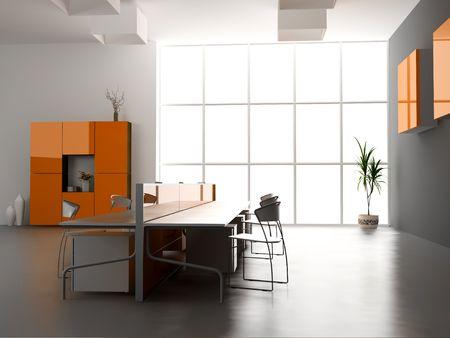 the modern office interior design (3d render) Stock Photo
