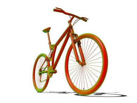 Montage: S�ure-Montage Fahrrad �ber den wei�en Hintergrund