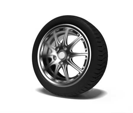 rims: the auto wheel  in motion blur effect (3D) Stock Photo