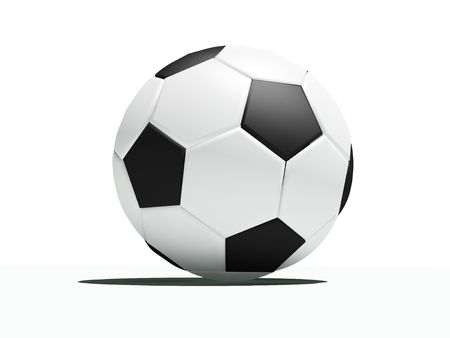 football close-up ball (3Dimage) Stock Photo - 1107182