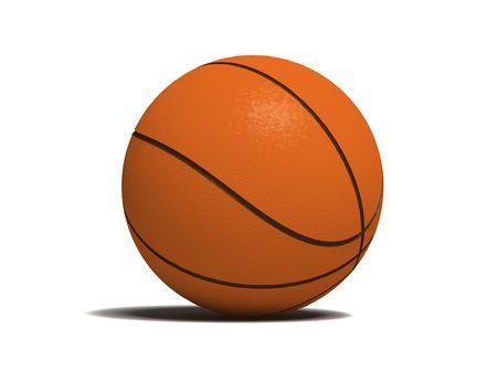 bal: basketball game bal over the white bachground (3D)