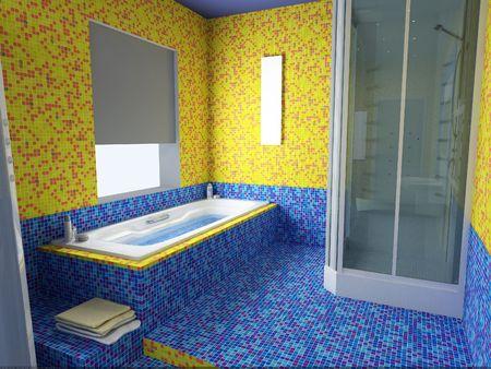 modern bathroom interior (3d rendering) Stock Photo - 1223035