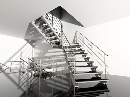 modern interior hall with stair photo