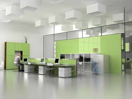 designers interior: il moderno ufficio interior design (3D render)