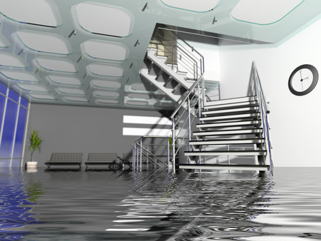 Das moderne Büro Halle Interieur mit Treppen in Insurance Fall