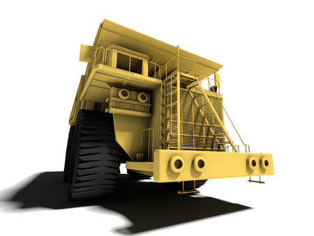 large heavy industry dump over the white background photo