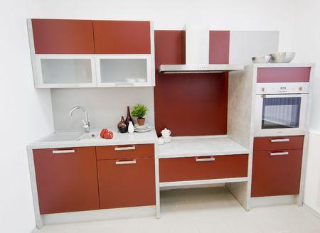 kitchen worktop: the modern kitchen interior design photo