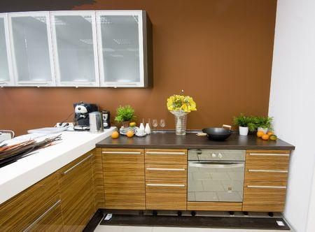 oven and range: the modern kitchen interior design photo