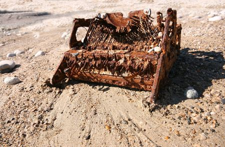 the old typewriter over the beach background Stock Photo - 1914673
