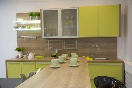 splashback: the modern kitchen interior design photo