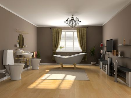 modern bathroom interior (3d rendering) Stock Photo - 2225958