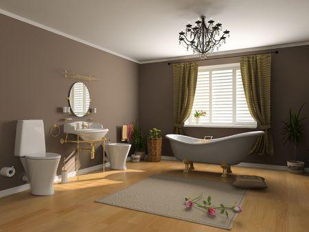 modern bathroom interior (3d rendering) Stock Photo - 2225959