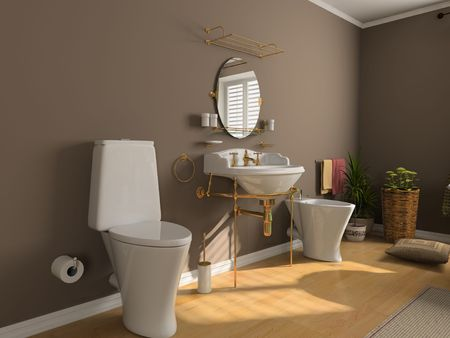 modern bathroom inter (3d rendering) Stock Photo - 2225955