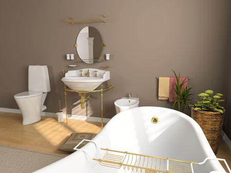 modern bathroom interior (3d rendering) Stock Photo - 2240979