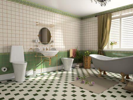 modern bathroom interior (3d rendering) Stock Photo - 2240981