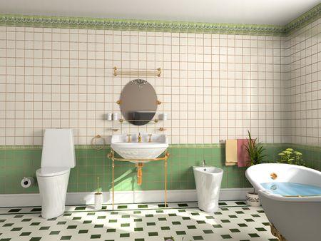 modern bathroom interior (3d rendering) Stock Photo - 2250287