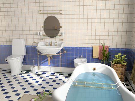 modern bathroom interior (3d rendering) Stock Photo - 2252719
