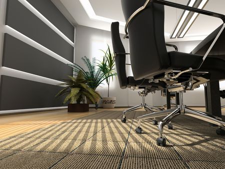 the modern office interior (3D rendering) Stock Photo - 2425469