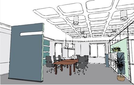 vector chair: the vector modern office interior (cartoon style )