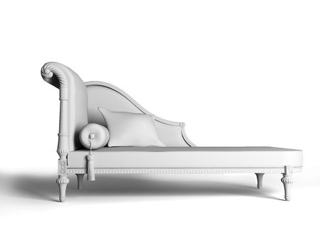 isolated classic sofa inter (3d rendering image) Stock Photo - 2532113