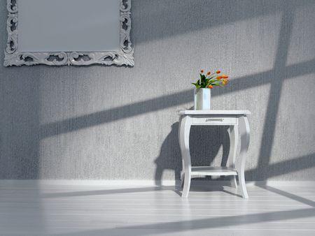 arredamento classico: modern interior design (interni di rendering 3D)  Archivio Fotografico