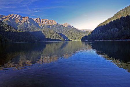 majestic mountain: majestic mountain lake landscape photo