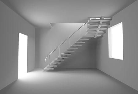 concept blank interior (3D rendering) photo