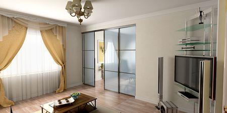 modern interior design (3d rendering) photo