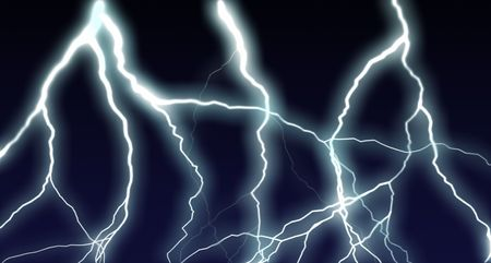 electrifying: the lighting image (computer generated) Stock Photo
