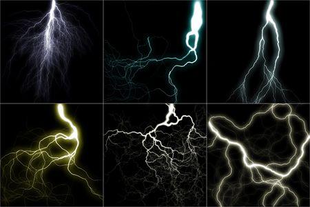 jolt: the lighting image set (digital graphic) Stock Photo