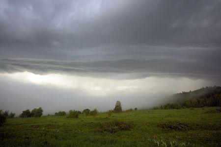 the storm landscape image Stock Photo - 3184209