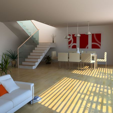 modern interior design(3D rendering) Stock Photo - 3219254