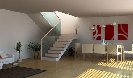 modern interior design(3D rendering) Stock Photo - 3219258