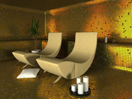 spa modern interior (3D rendering)