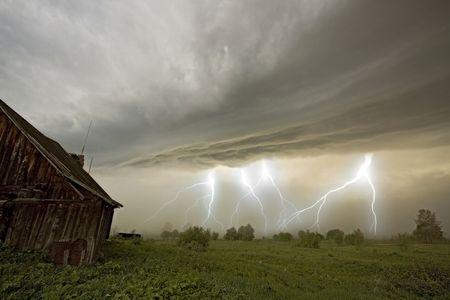 the storm landscape image Stock Photo - 3246178