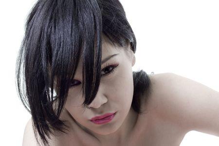 young & beauty emo girl photo Stock Photo - 3273577