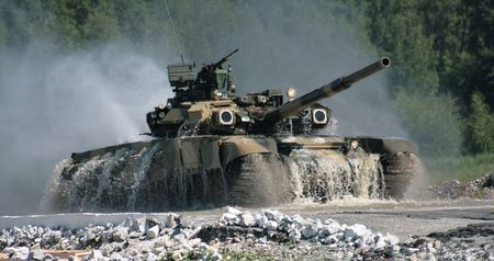 the tank, coming to the surface of water Stock Photo - 3393438