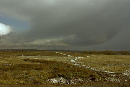 storm autumn landscape photo Stock Photo - 3668383