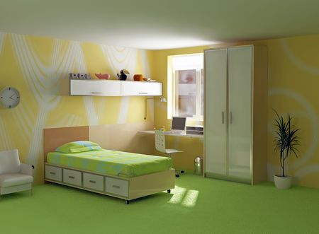 childroom interior modern design (3D image) photo
