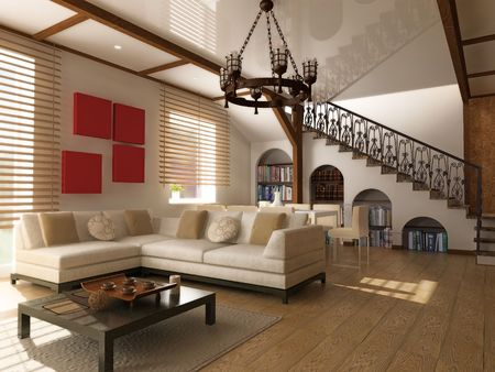 modern interior (computer generated image) Stock Photo - 3801993