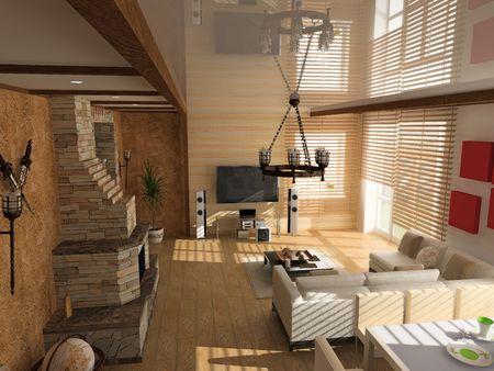 modern interior (computer generated image)