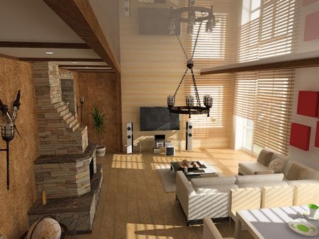 generated: modern interior (computer generated image)