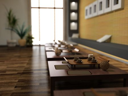 asia style restaurant interior image (3d with FOV effect)
