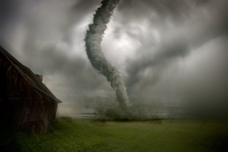 tornado approach to the house image