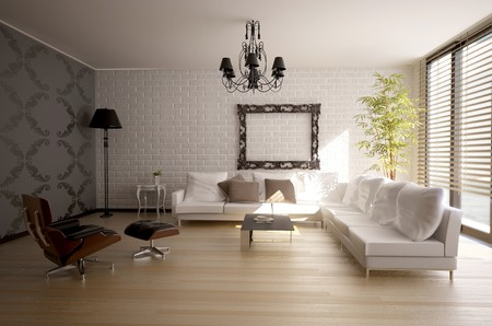modern interior design(3D rendering)