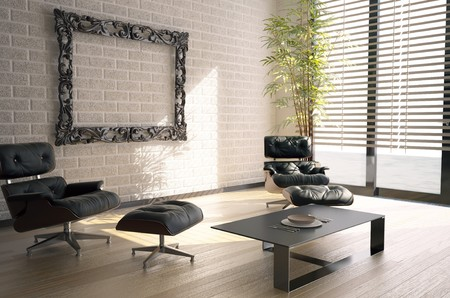 baroque room: modern interior design(3D rendering)