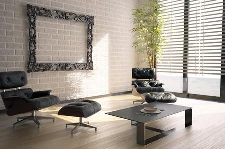 window blinds: modern interior design(3D rendering)