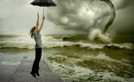 ocean tornado storm (3D used) Stock Photo - 4366904